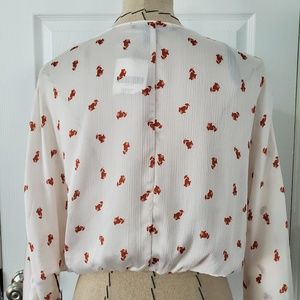 Forever 21 Tops - Forever 21 Floral Faux Wrap Crop Long Sleeve Top